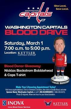 The Washington Capitals to Host Annual Spring Blood Drive