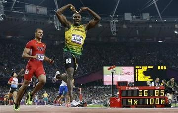 Bolt Powers Jamaica to 4x100-Meter Gold