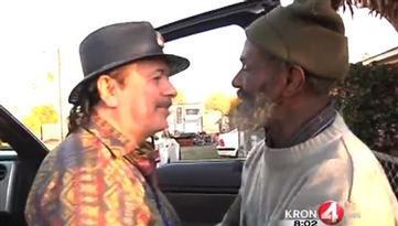 Santana Reunites with Ex-Bandmate, Now Homeless