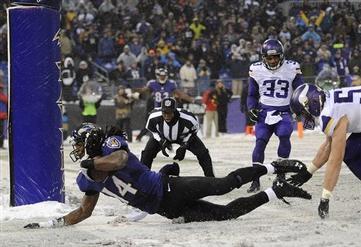 Ravens Survive Historically Exciting Snow Game against the Vikings