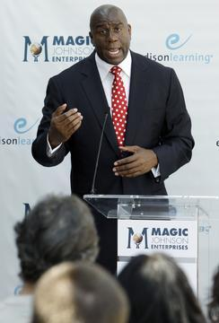 Magic Johnson Opens Atlanta School for At-Risk Students