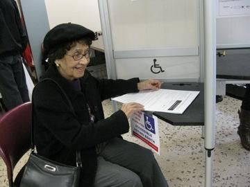Nonagenarian Makes Her Vote CountTwice