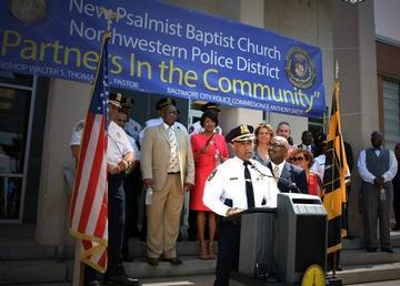 New Psalmist Baptist Funds Police Station Facelift