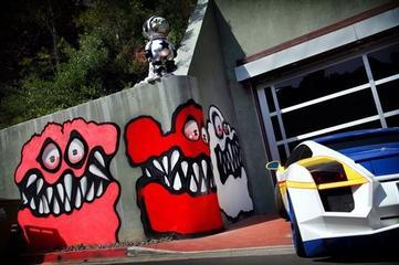 Chris Brown's Scary Curbside Art Irks LA Neighbors