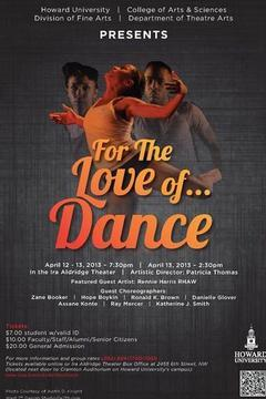 Howard University's Theatre Arts Program to Host 'For the Love ofDance'