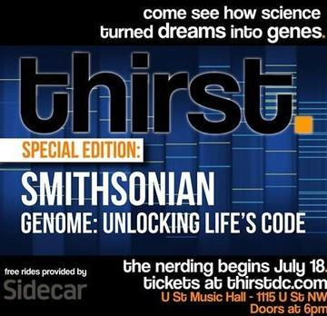 Smithsonian, NIH and thirstDC Host Special-Edition Genomics Event July 18