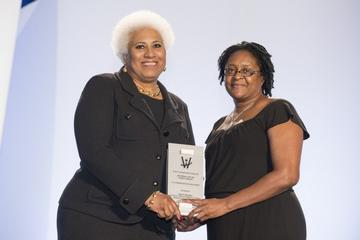 Valerie Hawkins Receives K-12 Promotion of Education Award at the 2013 Women of Color STEM Conference