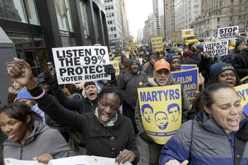 Thousands Stage Manhattan Voting Rights Demonstration