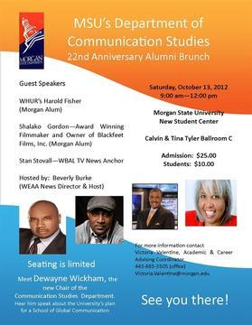 Morgan's Communications Alums to Gather for Brunch