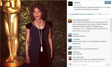 Idris Elba? Or  Alfre Woodard? They All Look Alike, Says Armani