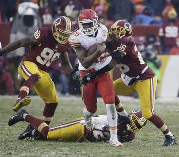 RGIII Benched as Kansas City Eviscerates Washington in Snow