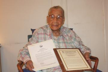 Centenarian Saluted