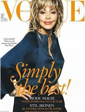 "Tina Turner, ""Simply the Best"" Newest Vogue Cover Girl"