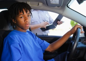 police-write-ticket-teen-driver