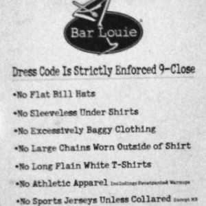 Article5 Bar Louie Posted Dress Code