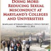 Md. Attorney General Releases Guide for Reducing Sexual Assault on Campuses