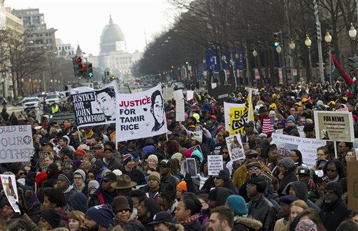 'Sea of People': Rally Protests Police Killings of Unarmed Black Men