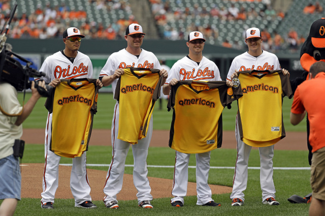 orioles send five players to all star game the most since 1972 afro