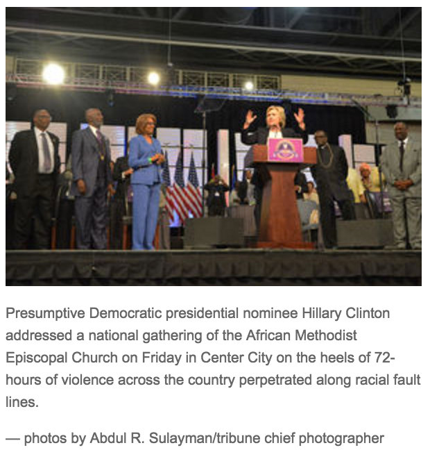 Article-B-PHOTO3-AME Philadelphia Conference--Clinton on stage with Bishops