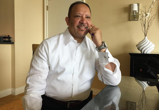 Marc Morial, the CEO of the National Urban League, poses for a photo at a hotel in Baltimore, Tuesday, Aug. 2, 2016. As the nation reels from repeated incidents of violence between police and African Americans, Morial, the head of the National Urban League said Tuesday that his group deliberately chose to hold its annual conference this week in the city where a young black man's death in police custody last year touched off protests and rioting. (AP Photo/Juliet Linderman)