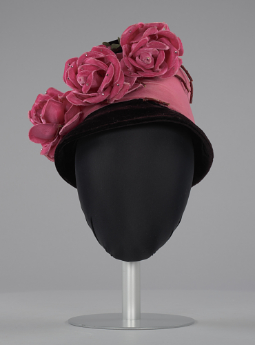 article13-black-pink-beehive-hat-w-pink-flowers-maes-millinery-shop-nmaahc-2013