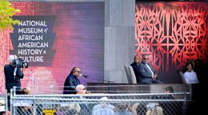 Stevie Wonder sings a special song in tribute to the opening of the National Museum of African American History & Culture on Sept. 24. (AFRO/ Photos by Rob Roberts)