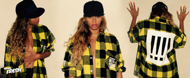 Beyonce wearing with passion by Ty hunter.