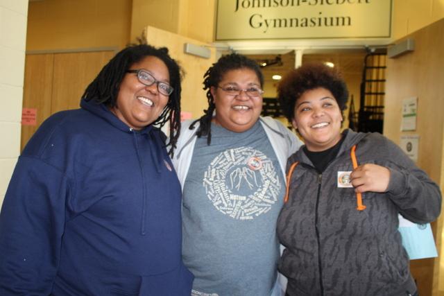 Ex-Felon2 Terry Garrett, center, poses with her daughters, Iterria Garrett, 32, left, and Candace Garrett, 31.