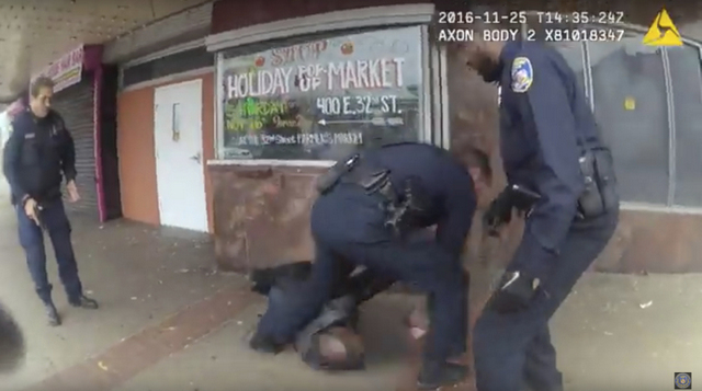 Baltimore police release body camera video from shooting for first time