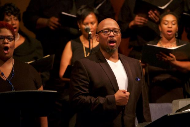 "Members of the Phil Woodmore Singers will perform ""Antigone in Ferguson,"" at Coppin State University on Jan. 21. (Courtesy photo)"