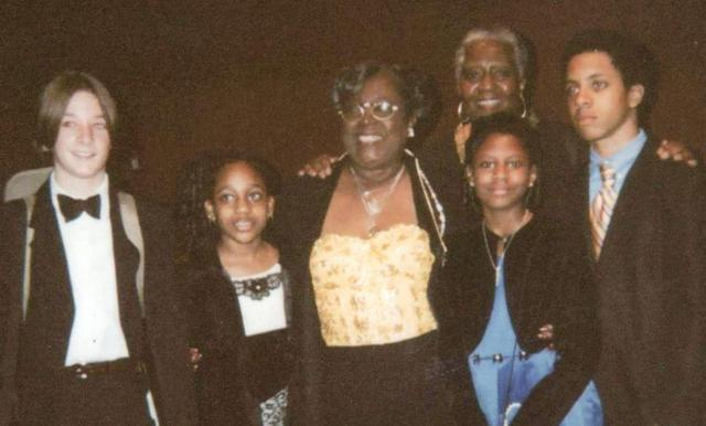 . Tionna Brunson, second left with other recipients in 2008 with Rosa Pryor, the CEO and Founder (center) and Dr. Donna Hollie, the Director of the Children's Scholarship Committee of the Rosa Pryor Music Scholarship Fund.