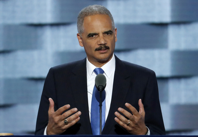 Former U.S. Attorney General Eric Holder testified in favor of reforming Maryland's bail rules. (AP Photo/J. Scott Applewhite,File)