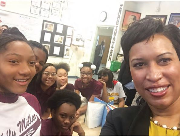 D.C. Mayor Muriel Bowser, a product of all-female education at Elizabeth Seton High School and Chatnam University, is working with the city's education system to start an education initiative that focuses on girls and young women in D.C.  (Courtesy Photo)