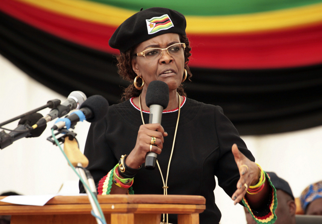 South Africa border officials on alert to prevent departure of Mugabe's wife